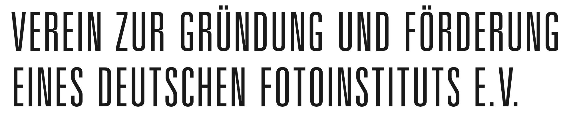 Verein zur Gründung und Förderung eines Deutschen Fotoinstituts e. V.